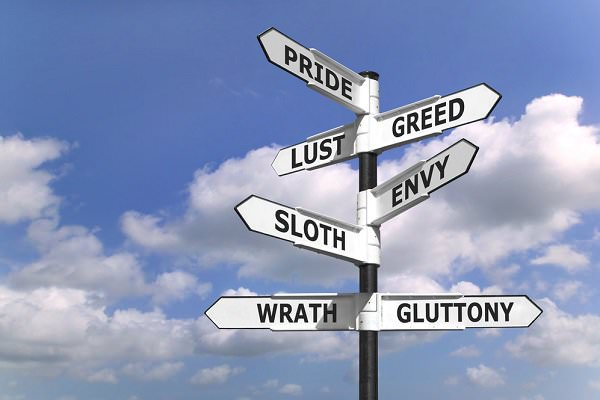 Think of the Seven Deadly Sins as seven different pathways, none of which leads to sobriety. (RTimages/Shutterstock)